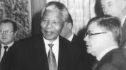 President Nelson Mandela meets Jean-Yves Ollivier, 1995